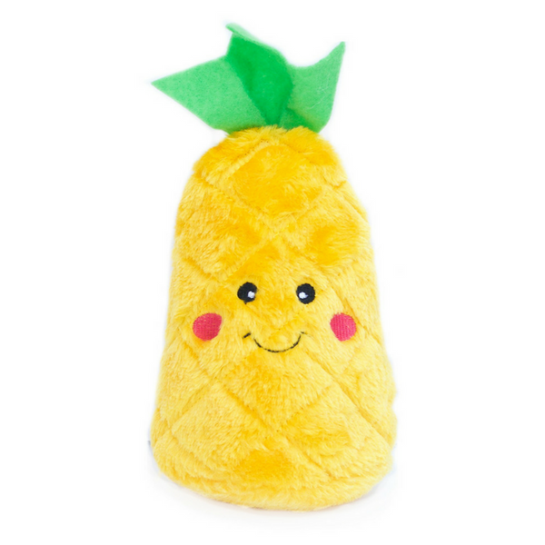 Zippy Paws NomNomz Plush Dog Toy | Pineapple | Peticular