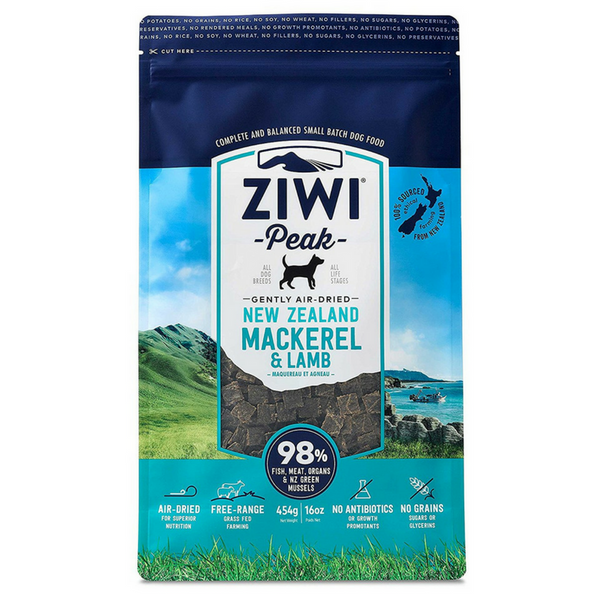 Ziwi Peak Air-Dried Dog Food | Mackerel & Lamb | Peticular