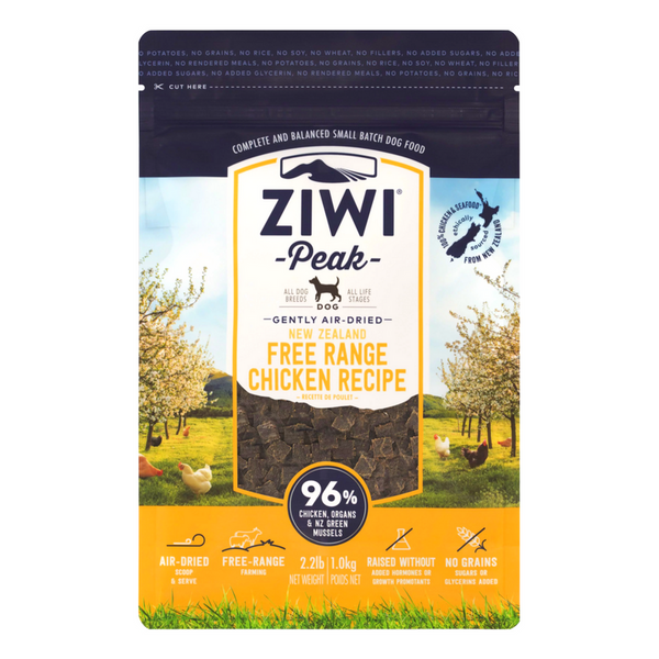 Ziwi Peak Air-Dried Dog Food | Free Range Chicken | Peticular
