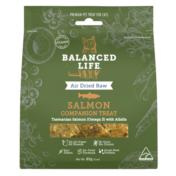 Vets All Natural Balanced Life Companion Cat Treats | Salmon | Peticular