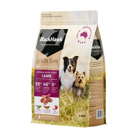 Black Hawk Grain Free Dog Food | Lamb | Peticular