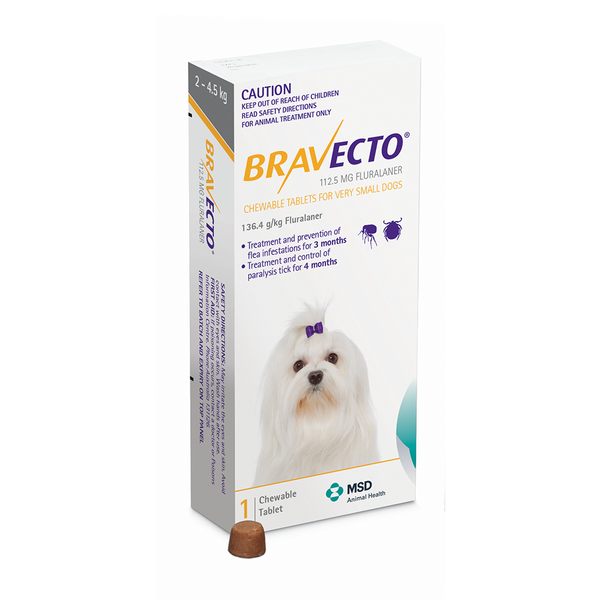 MSD Animal Health Bravecto Chewable Dog Flea & Tick Treatment | Peticular