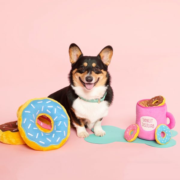 Zippy Paws Interactive Dog Toy | Coffee & Donutz | Peticular