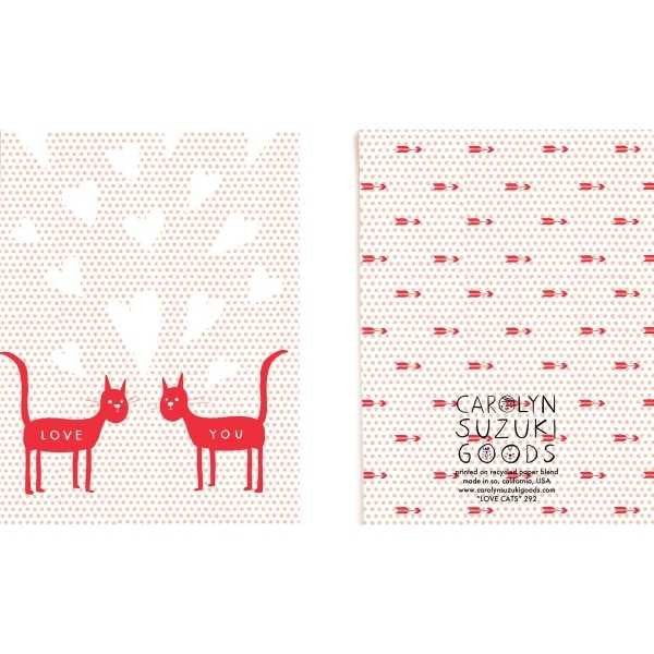 Vevoke Blank Card | Love Cats | Peticular