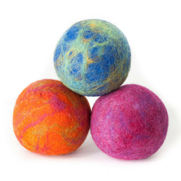 East Coast Pets Wool Play Ball | Set of 3 | Peticular