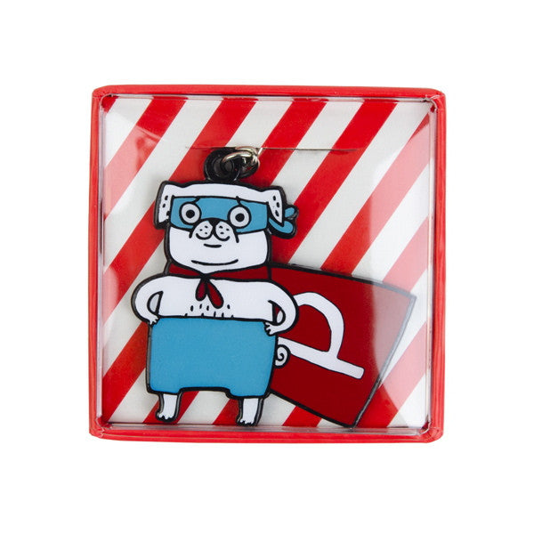 Vevoke Boxed Key Ring | Super Pug | Peticular