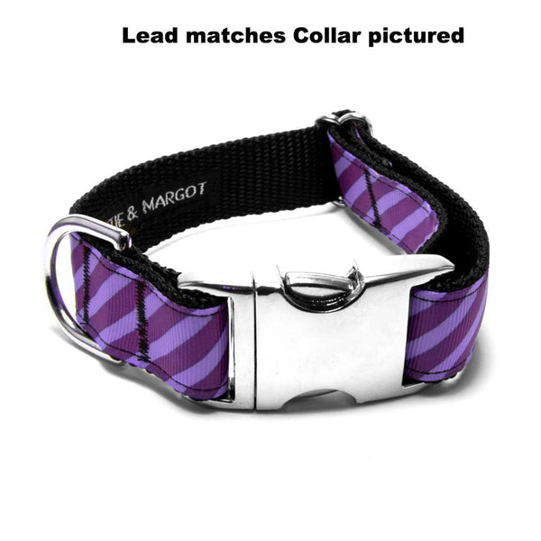 MATTIE + MARGOT Iris/Purple Stripe Dog Lead | Peticular