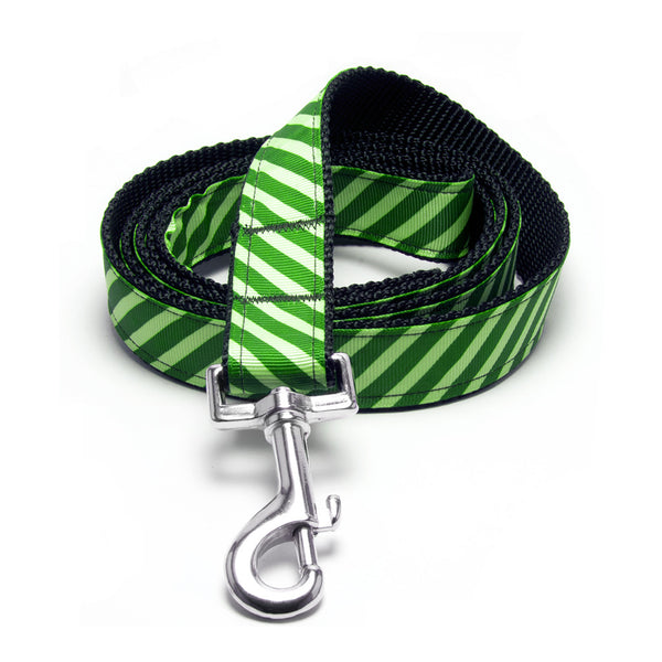 MATTIE + MARGOT Apple/Lime Green Stripe Dog Lead | Peticular