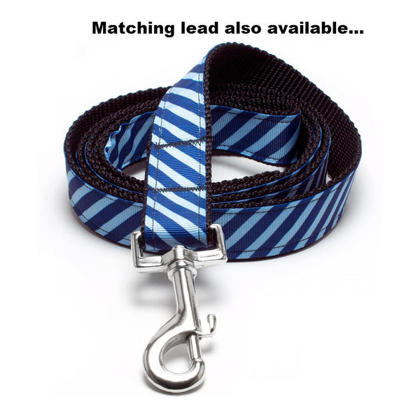 MATTIE + MARGOT Bluebird/Navy Stripe Dog Collar | Peticular