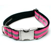 MATTIE + MARGOT Neon Pink Reflective Dog Collar | Peticular