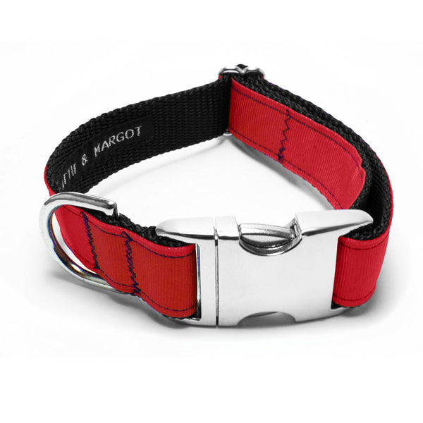 MATTIE + MARGOT Real Red Dog Collar | Peticular