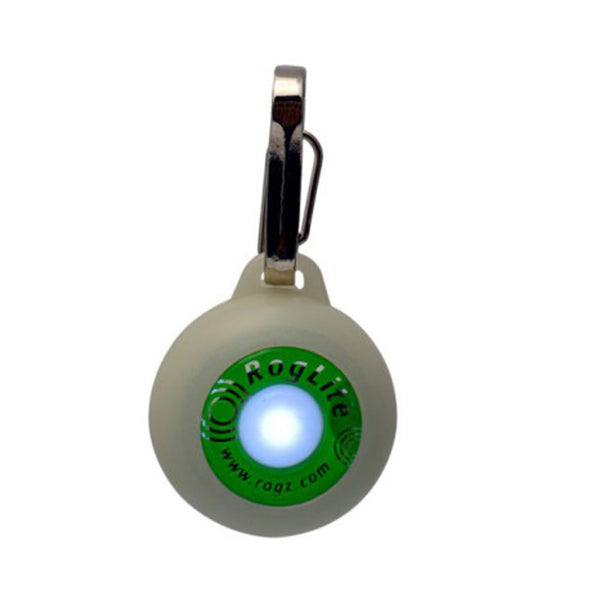 RogLite Flashing Dog Tag | Glow-in-the-Dark - Peticular