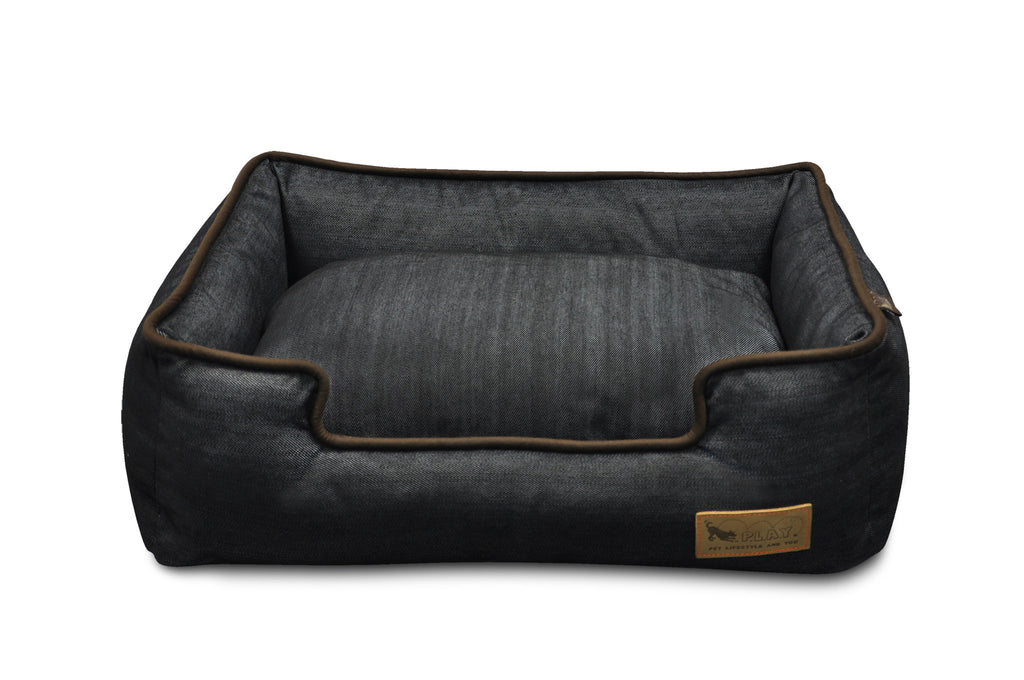 Elevated view of P.L.A.Y. Urban Denim Lounge Bed (Medieval Blue/Chocolate)
