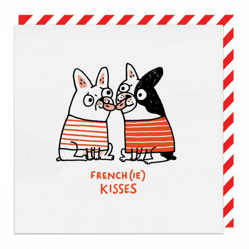 Vevoke Blank Card | French(ie) Kisses | Peticular