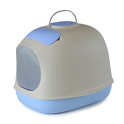United Pets Minu Cat Litter Box | Light Blue | Peticular