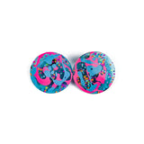 Statement Resin Earrings made in Brisbane Care Bears circles
