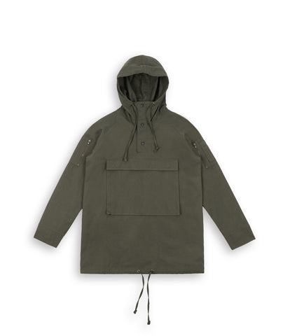 D22 Hooded Pullover Anorak - Military Green - UNDERATED