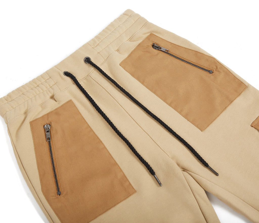JN381 Utility Cargo Joggers - Beige - underated london - underatedco - 7