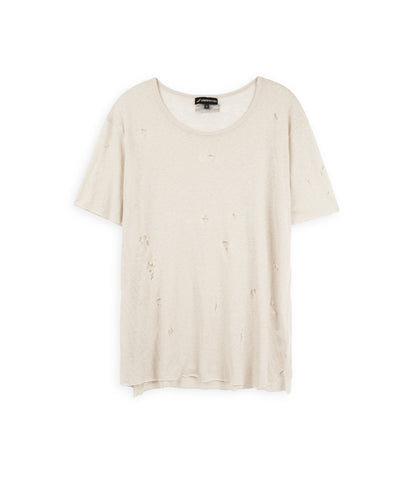 D10V2 Exile Distressed Tee - Sand - underated london - underatedco - 2
