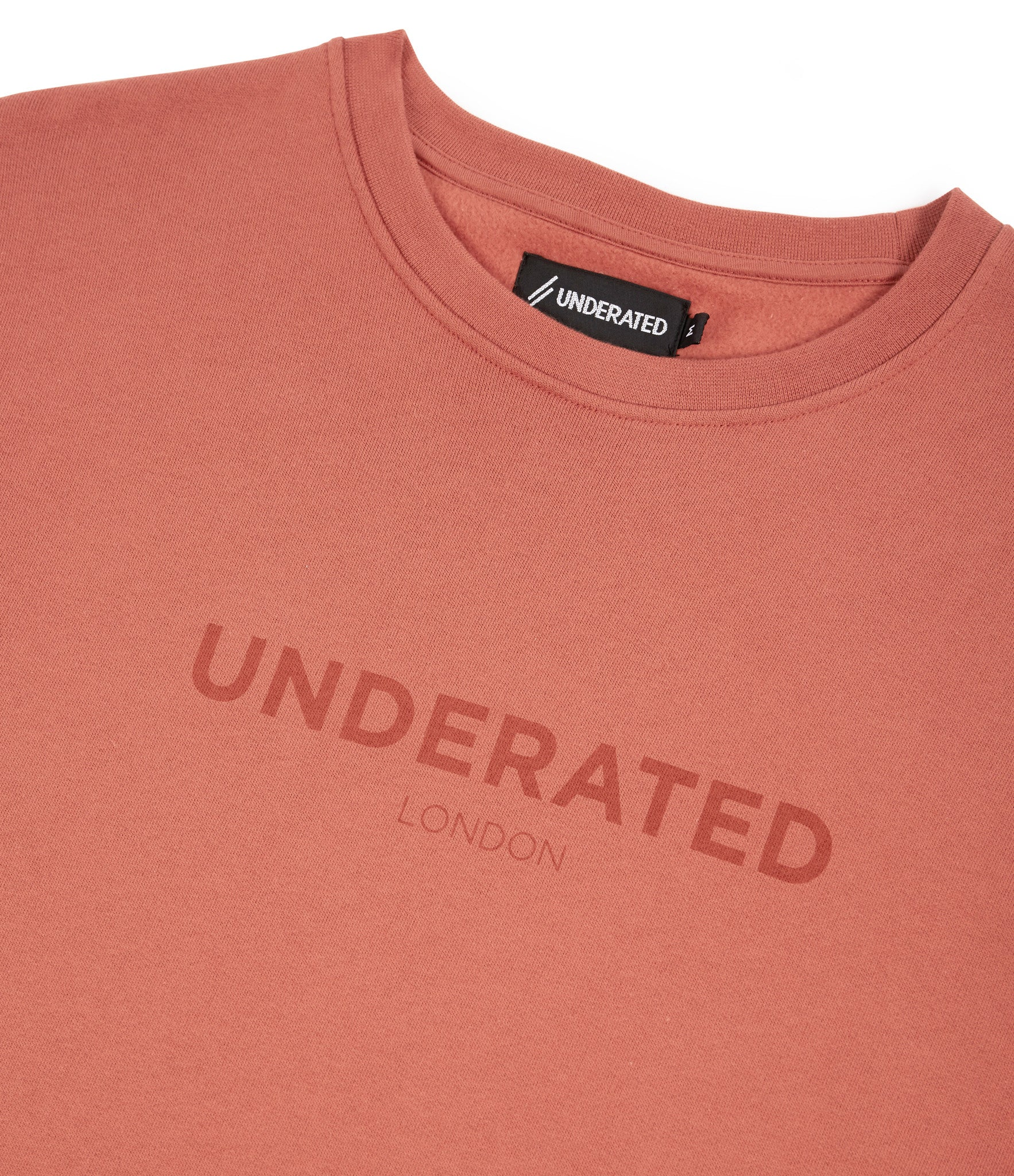 SW400 Tonal Print Sweatshirt - Rust - underated london - underatedco - 3