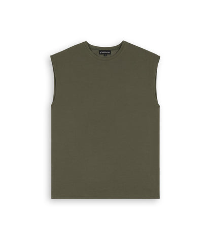 VS267 Sleeveless Muscle Tee - Khaki - underated london - underatedco - 1