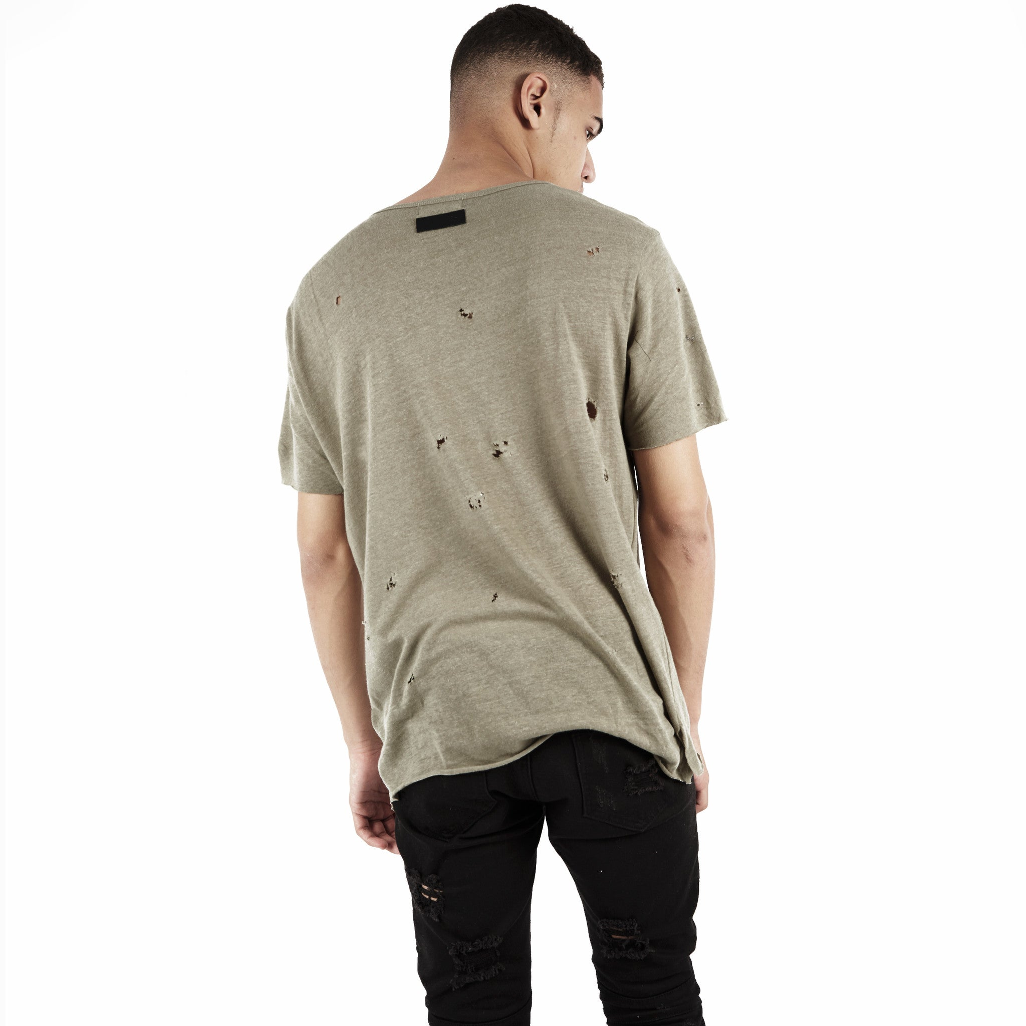 D10V2 Exile Distressed Tee - Khaki - underated london - underatedco - 5