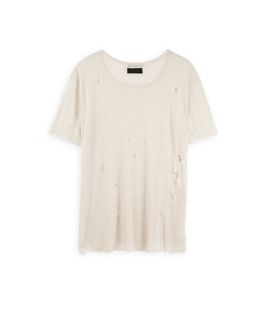 D10V2 Exile Distressed Tee - Sand - underated london - underatedco - 3