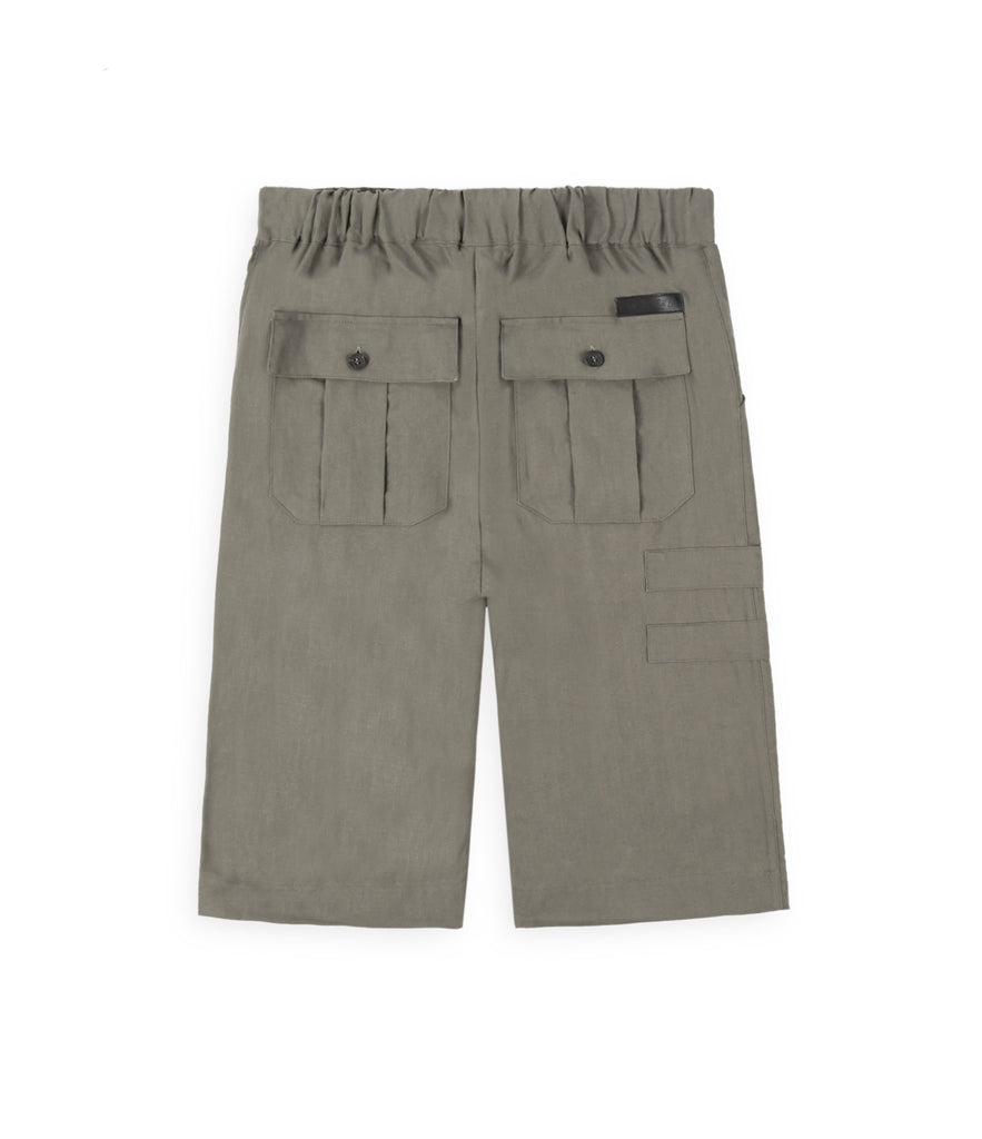 SR282 Exile Linen Shorts - Khaki - underated london - underatedco - 3