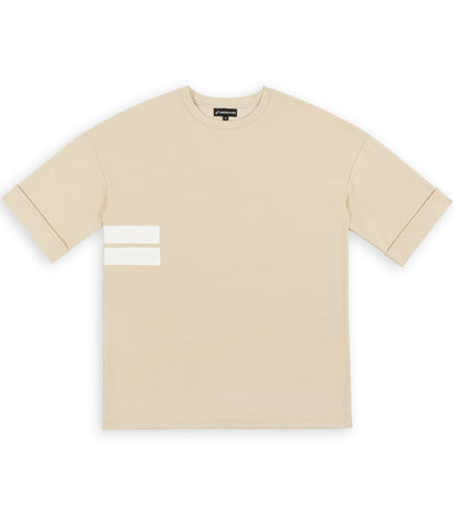 TS271 Oversized Tee - Beige - underated london - underatedco - 1