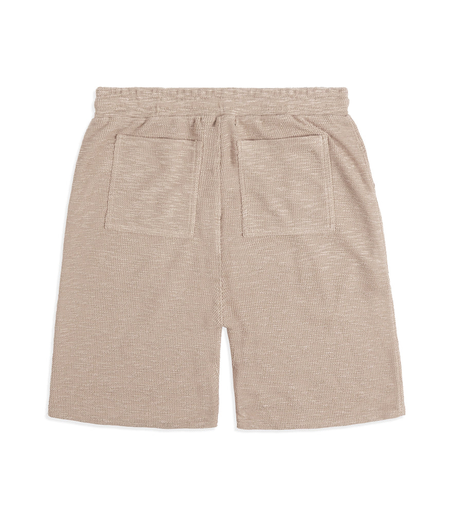SR427 Straight Leg Shorts - Beige Knit - UNDERATED