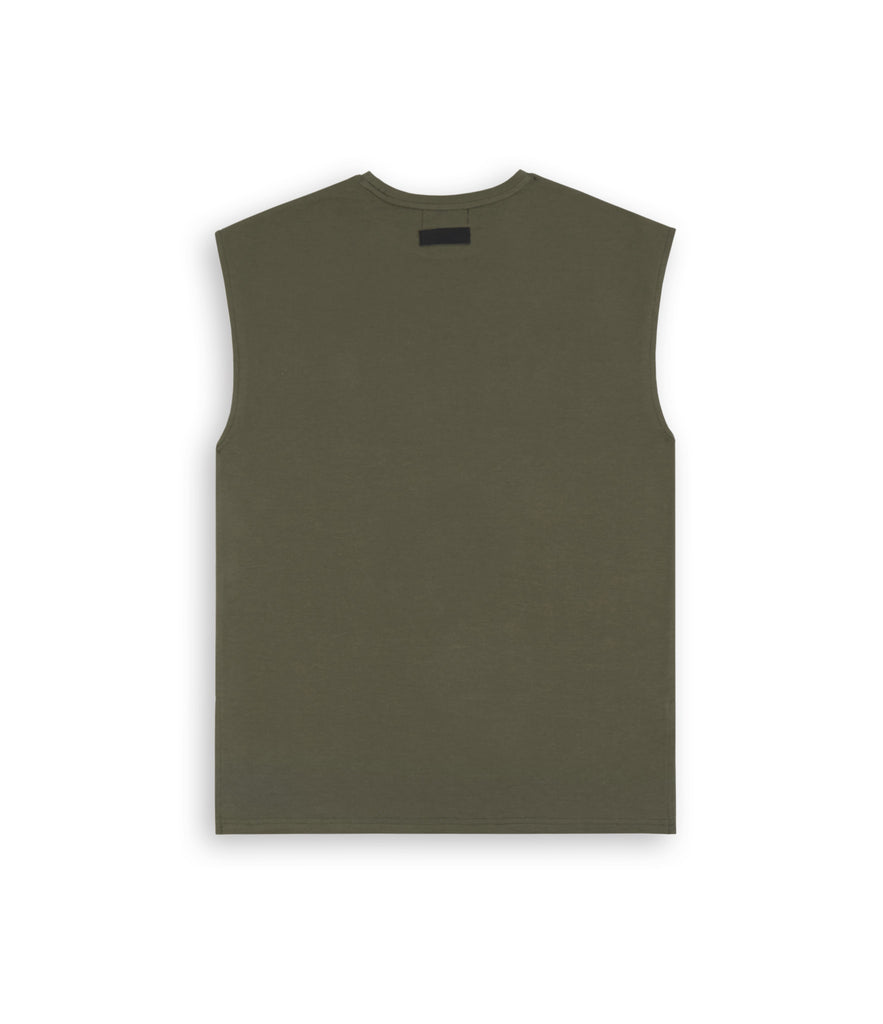 VS267 Sleeveless Muscle Tee - Khaki - UNDERATED