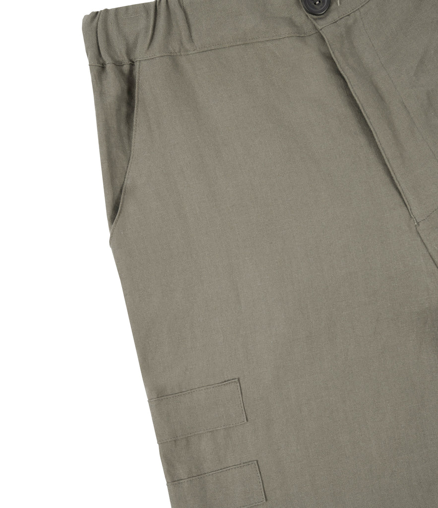 SR282 Exile Linen Shorts - Khaki - underated london - underatedco - 4