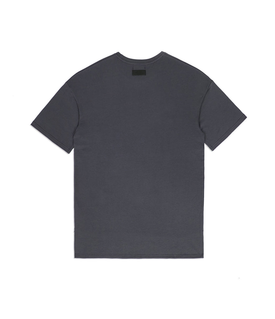 TS362 Hi-Low Oversized Tee - Charcoal - underated london - underatedco - 5