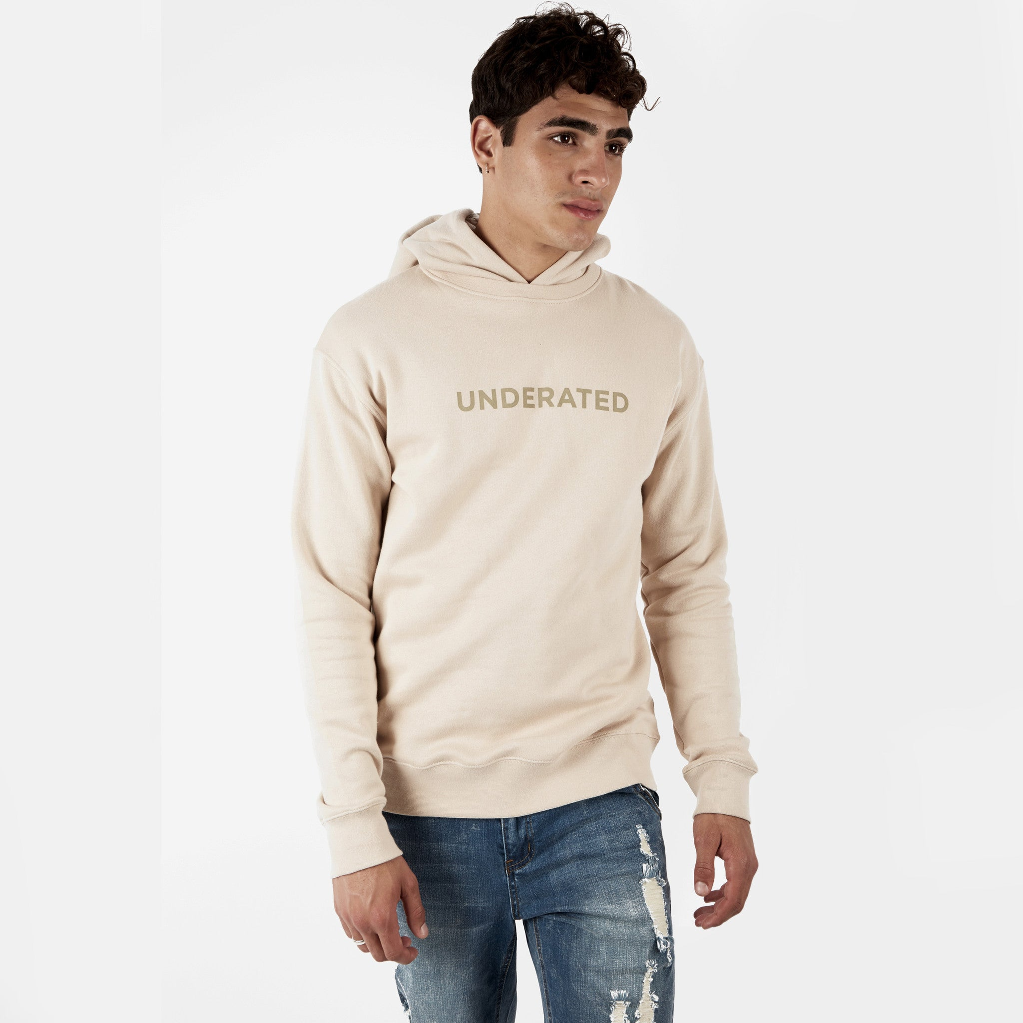 HD395 Essential Print Hoody - Nude - underated london - underatedco - 5