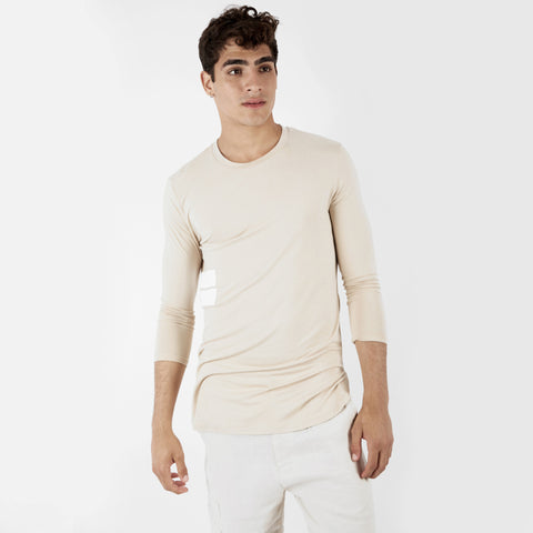 TS272 Under Layer 3/4 Sleeve Tee - Beige - UNDERATED
