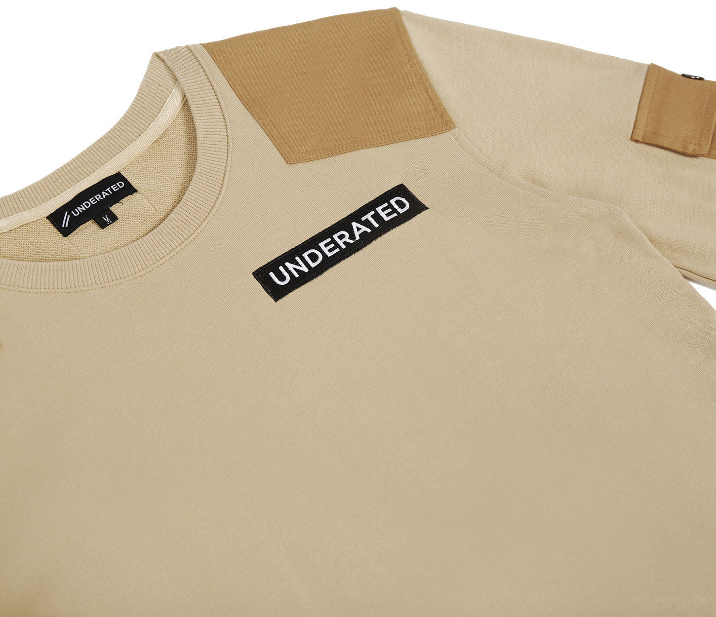 SW376 Utility Cargo Sweatshirt - Beige - underated london - underatedco - 6