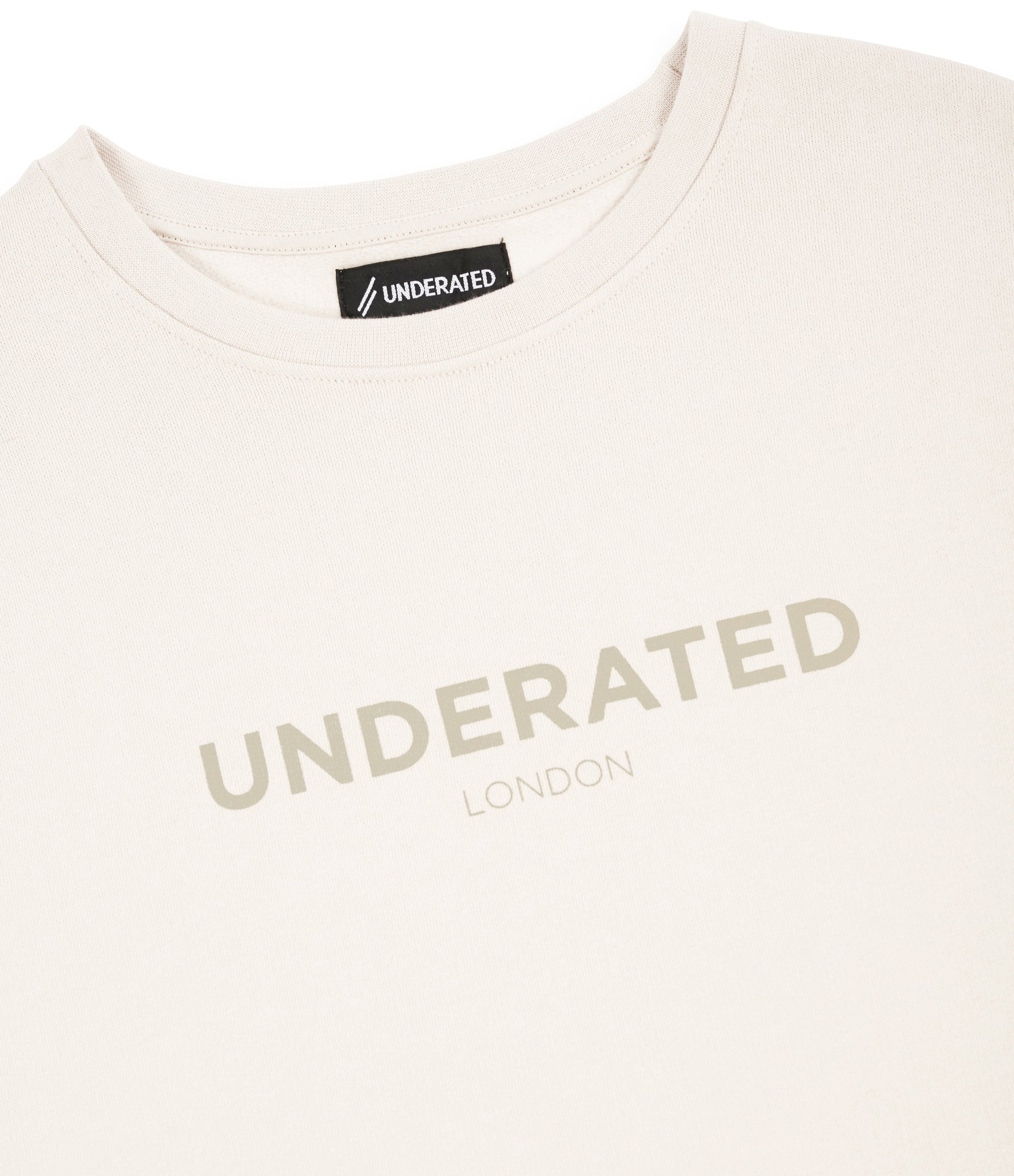 SW400 Tonal Print Sweatshirt - Beige - underated london - underatedco - 3