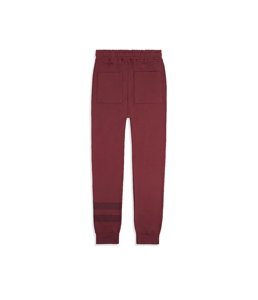 TR483 Essential Drop Crotch Joggers - Oxblood