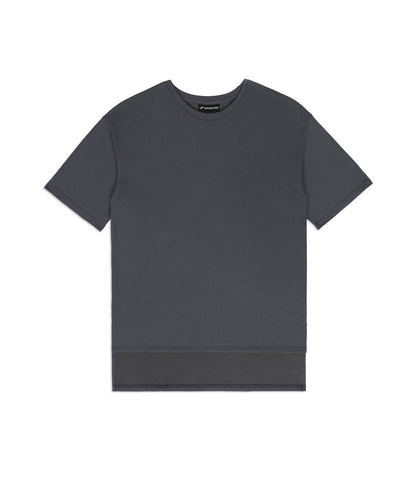 TS362 Hi-Low Oversized Tee - Charcoal - underated london - underatedco - 1