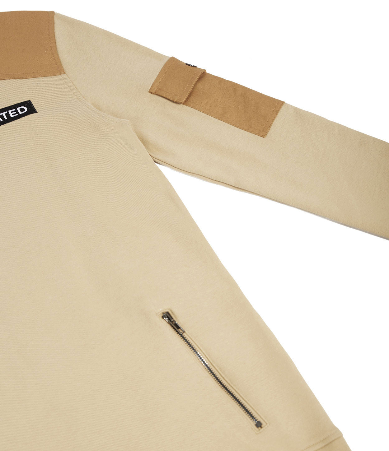 SW376 Utility Cargo Sweatshirt - Beige - underated london - underatedco - 7