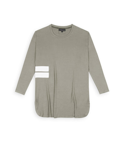 TS272 Under Layer 3/4 Sleeve Tee - Khaki - underated london - underatedco - 1