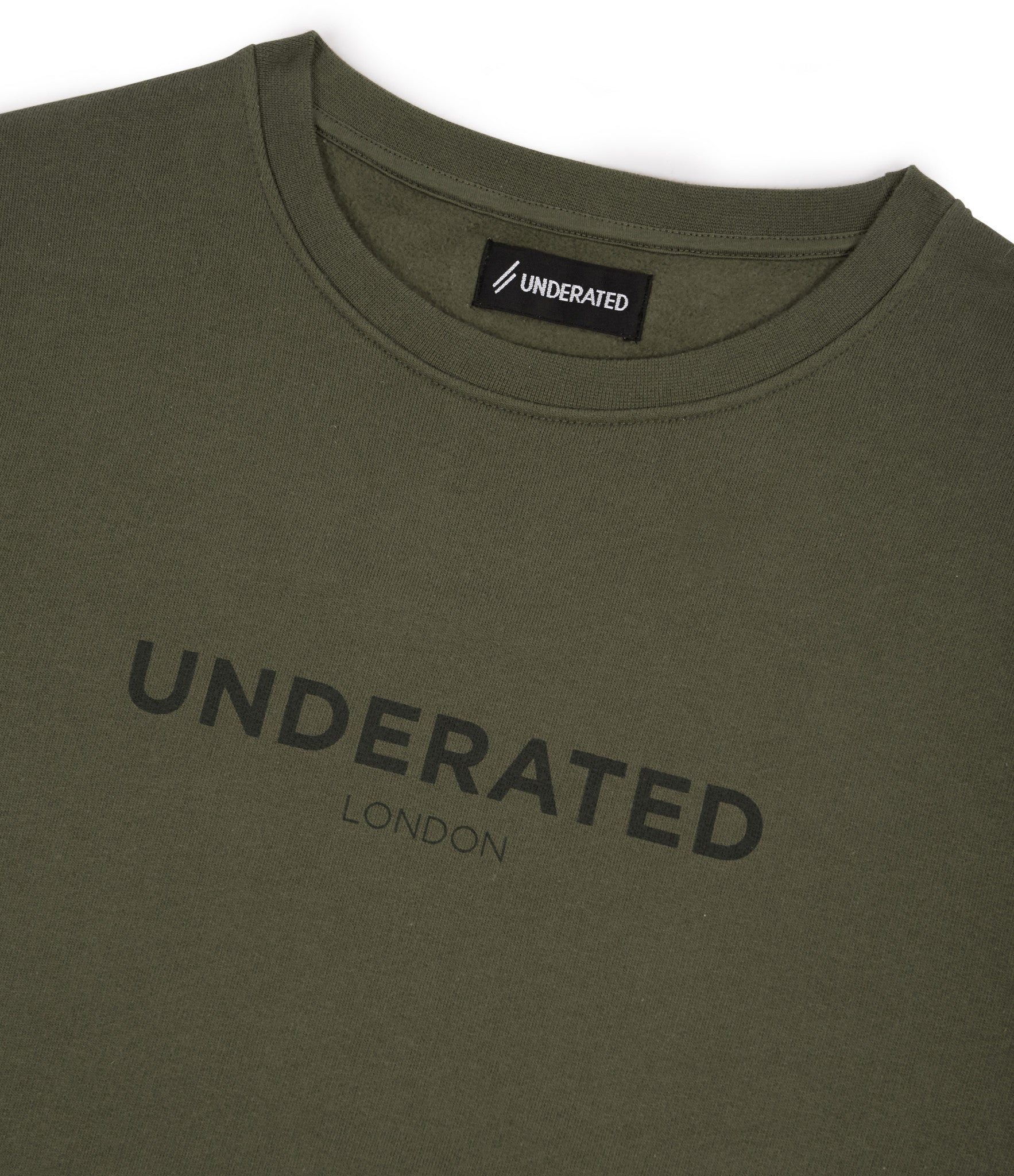 SW400 Tonal Print Sweatshirt - Khaki - underated london - underatedco - 3