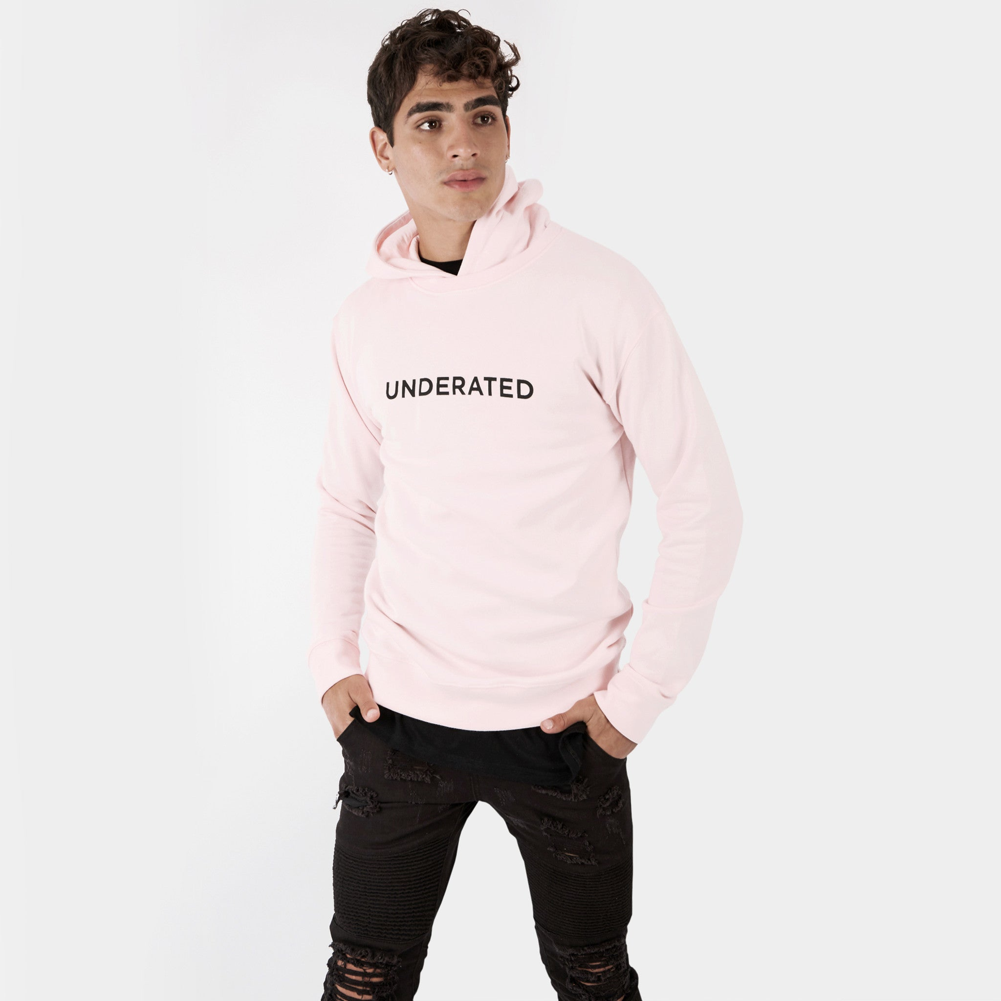 HD395 Essential Print Hoody - Pink - underated london - underatedco - 3