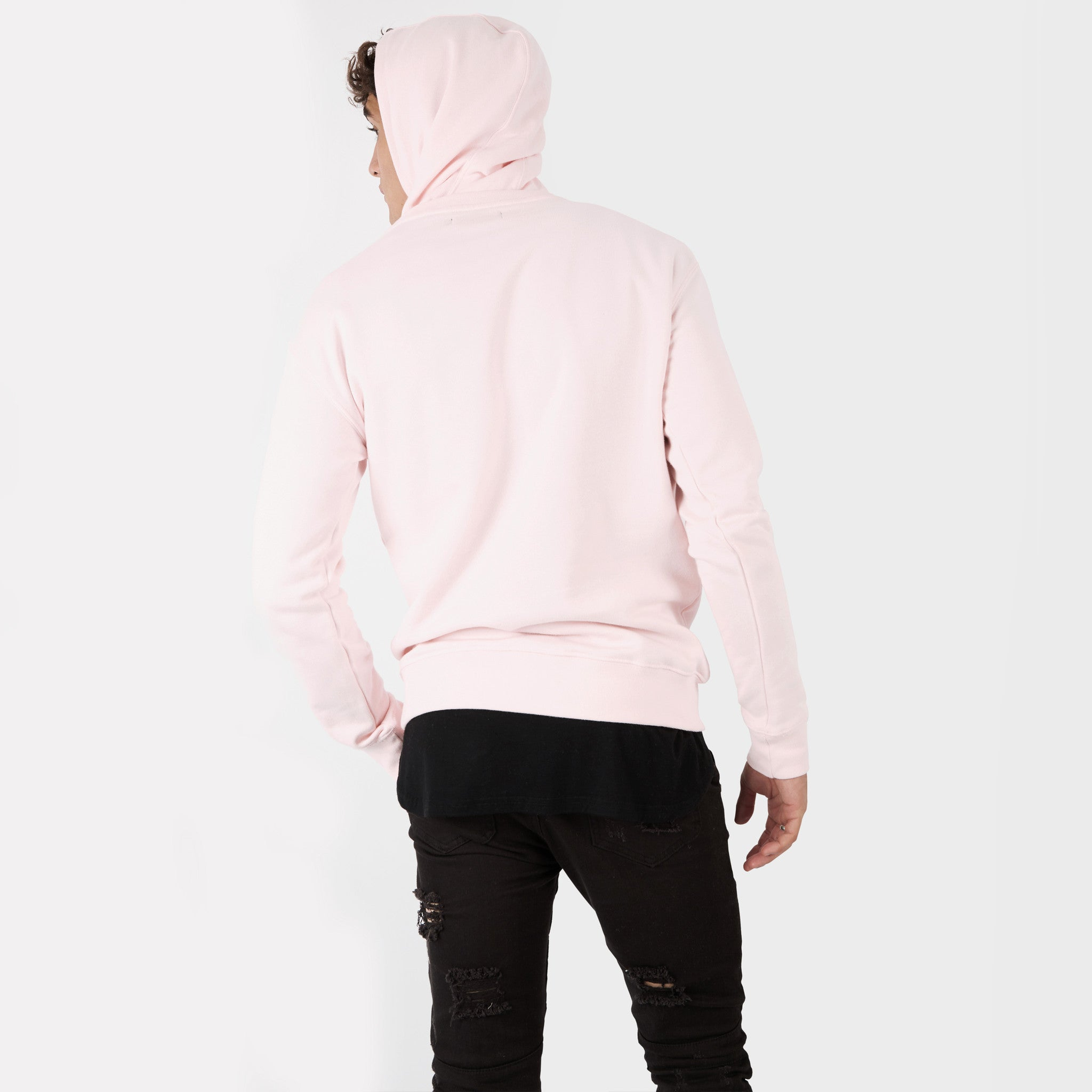 HD395 Essential Print Hoody - Pink - underated london - underatedco - 4