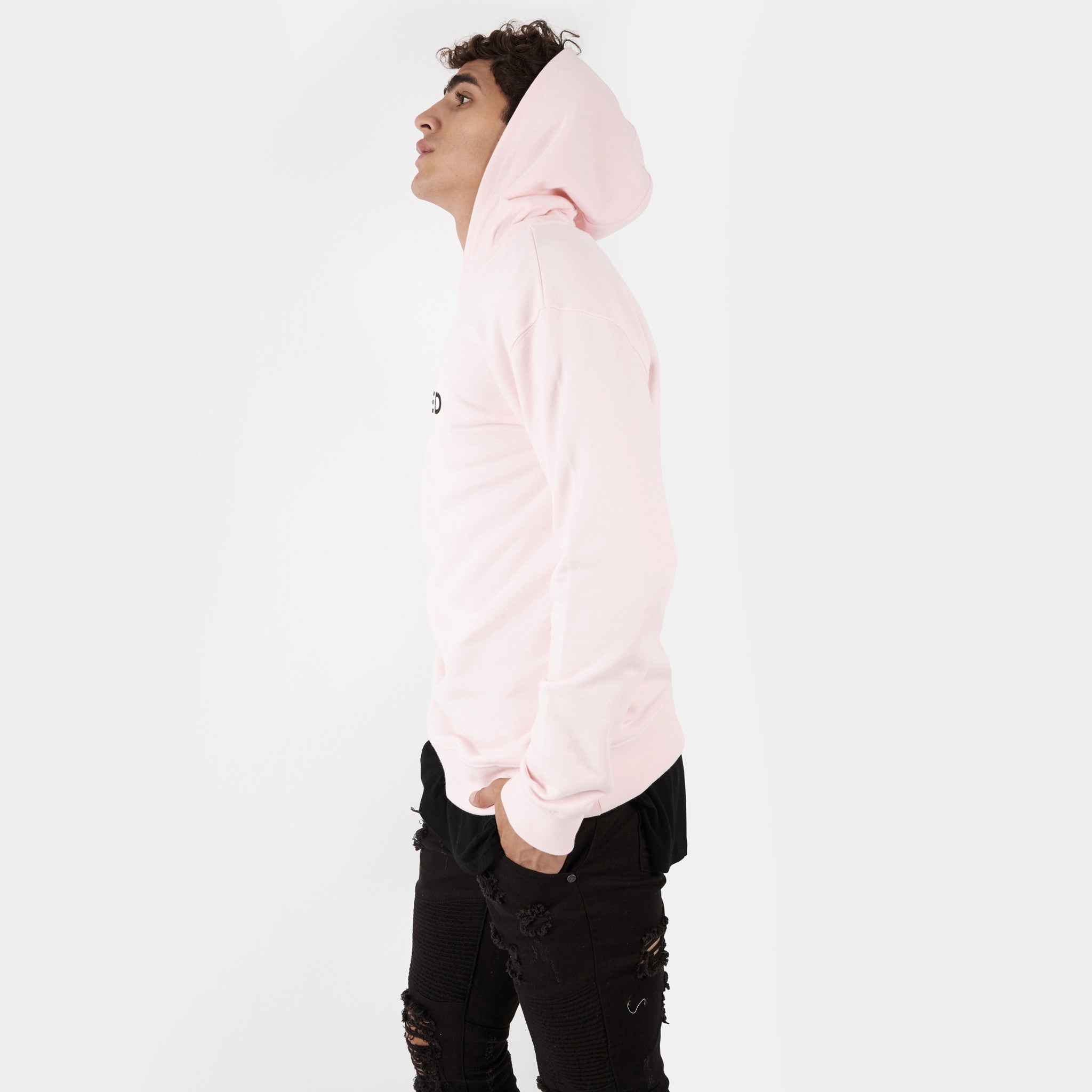 HD395 Essential Print Hoody - Pink - underated london - underatedco - 5