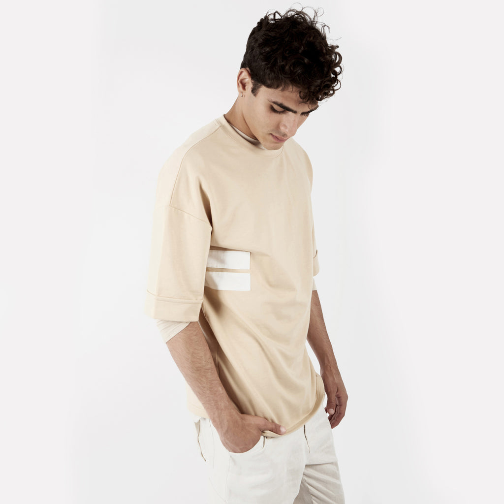 TS271 Oversized Tee - Beige - underated london - underatedco - 5