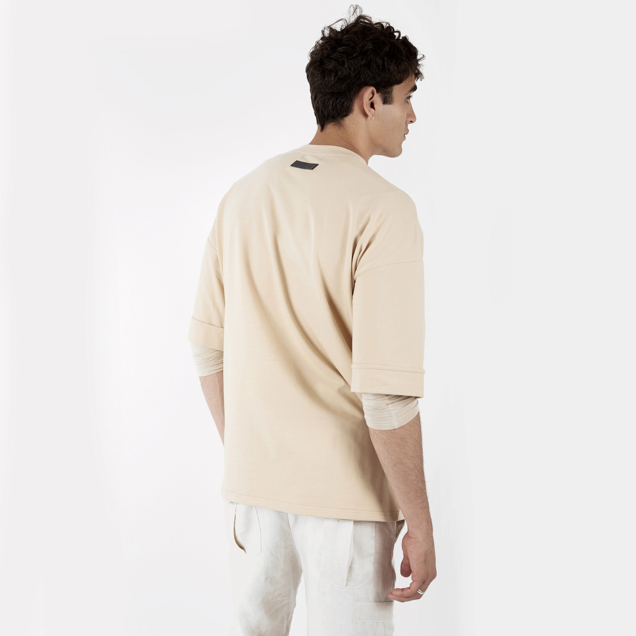 TS271 Oversized Tee - Beige - underated london - underatedco - 6