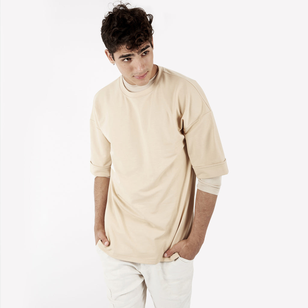 TS271 Oversized Tee - Beige - underated london - underatedco - 7