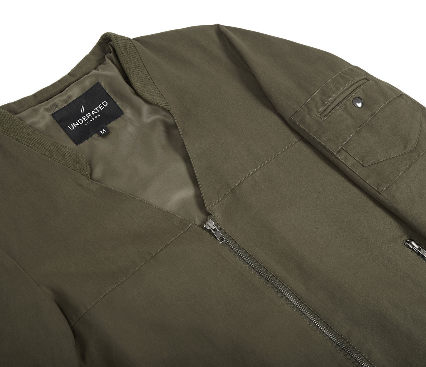 CT338 Utility Messenger Jacket - Khaki - underated london - underatedco - 5