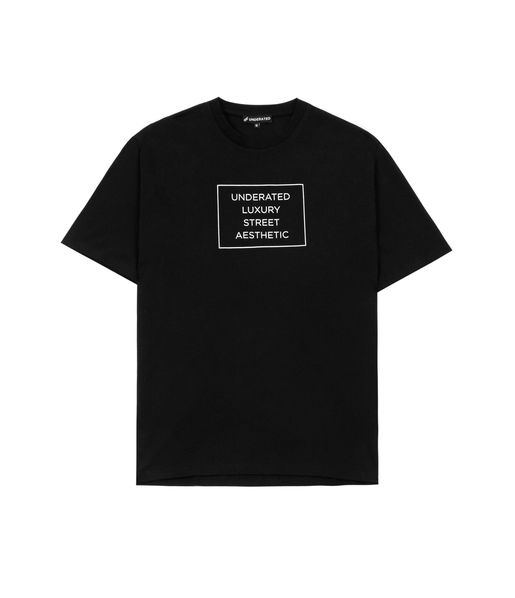 TS319 Box Logo Printed Tee - Black - underated london - underatedco - 1